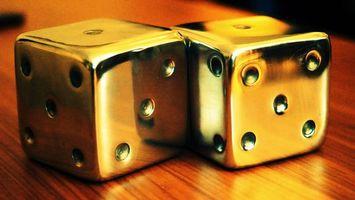 Обои кубики, кости, квадратики, цифры, точки, кружочки, стол, партия, игры