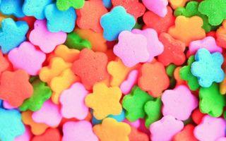 Бесплатные фото мастика,сладость,конфеты,цветки,форма,розовые,десерт