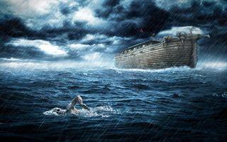 Фото бесплатно море, волны, дождь