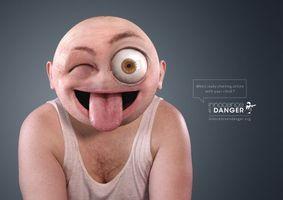 Фото бесплатно большая голова, язык, большой глаз