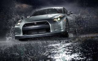 Photo free nissan gt-r, sedan, color