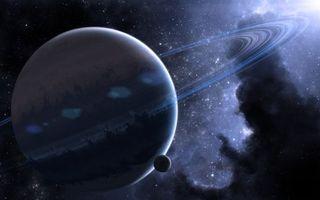 Фото бесплатно сатурн, планета, кольца, газовый, гигант, спутник, космос