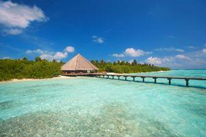Фото бесплатно Мальдивы, пейзажи, море