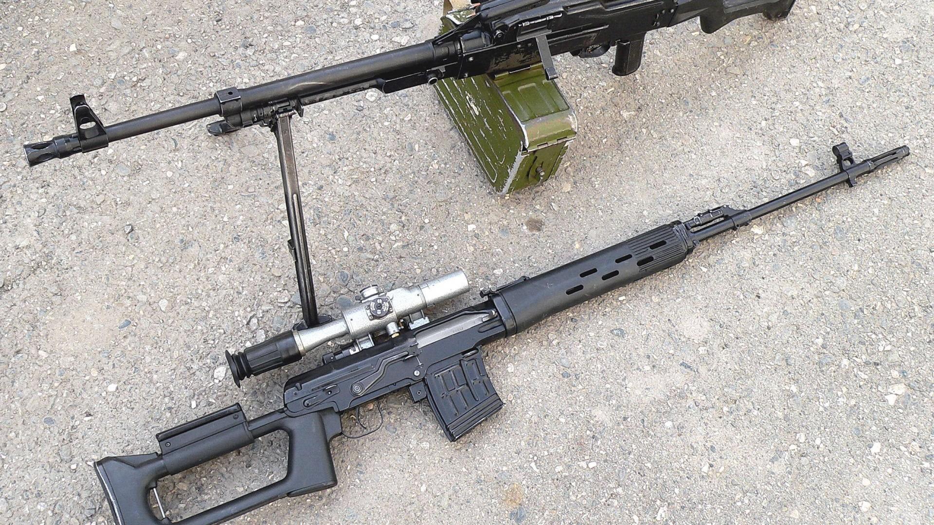 винтовка, пулемет, прицел
