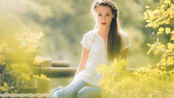 Фото бесплатно волосу, длинные, глаза