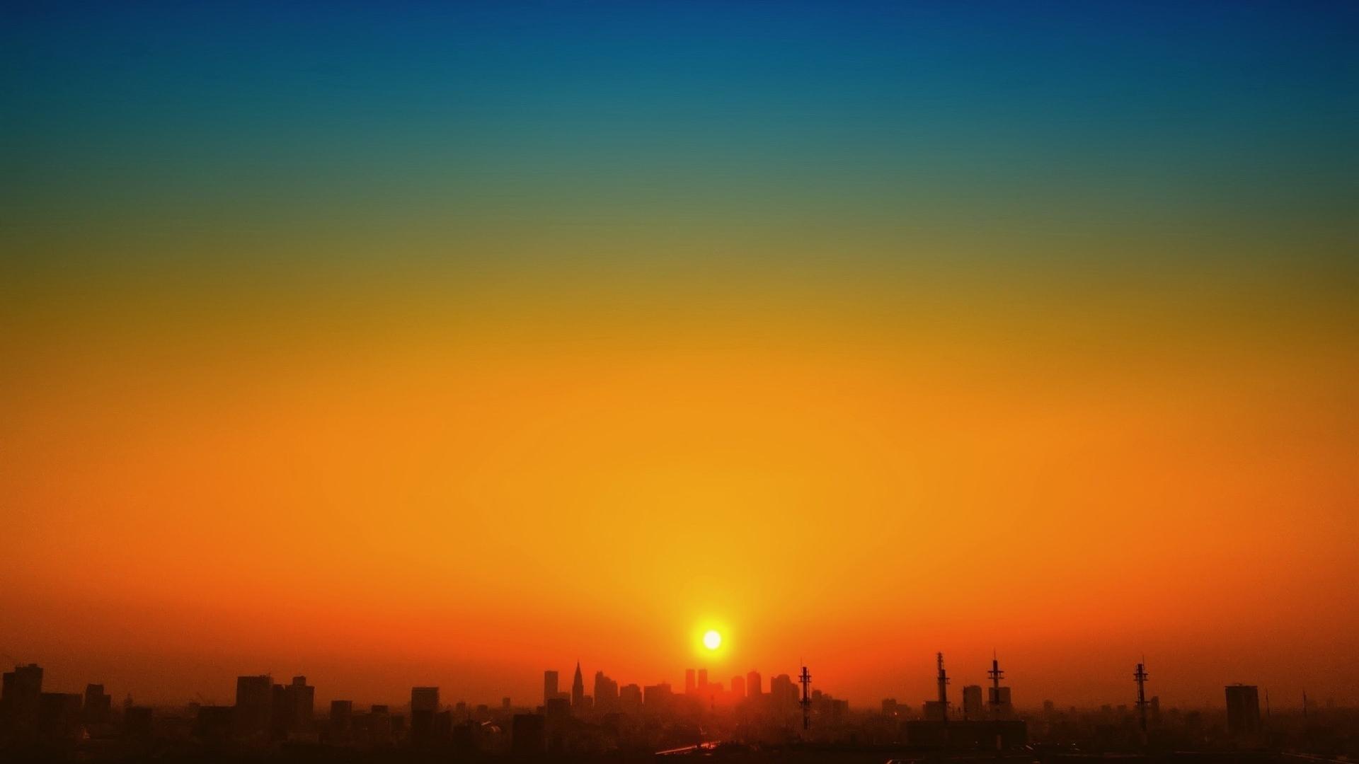 город закат небо загрузить
