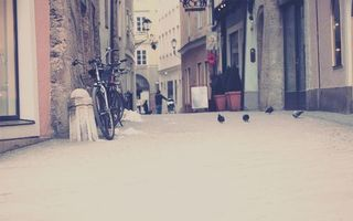 Бесплатные фото дома,улица,стоит,city,город,велосипед,тратуар