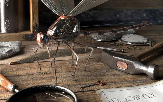 Бесплатные фото комар,механический,электронный,крылья,на столе,молоток,инструменты,разработка,разное