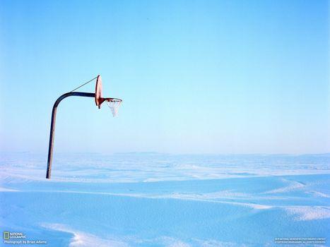 Бесплатные фото баскетбольное,кольцо,заполярье,national geographic,снег,пейзажи