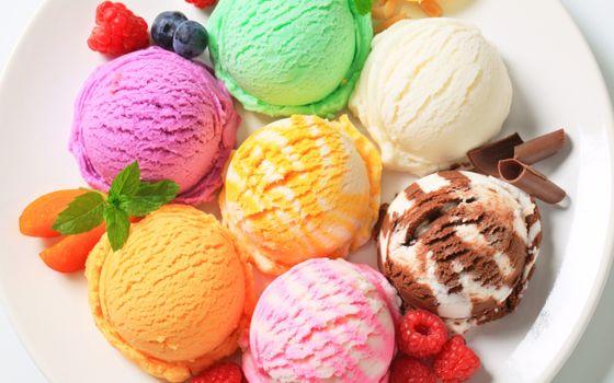 Фото бесплатно десерт, мороженое, цветное