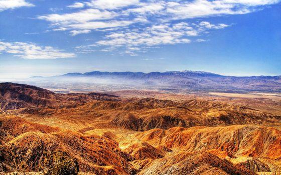 Фото бесплатно горы, вершины, долина, сопки, небо, облака, природа