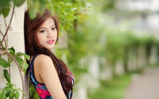 Фото бесплатно китаянка, волосы, прическа