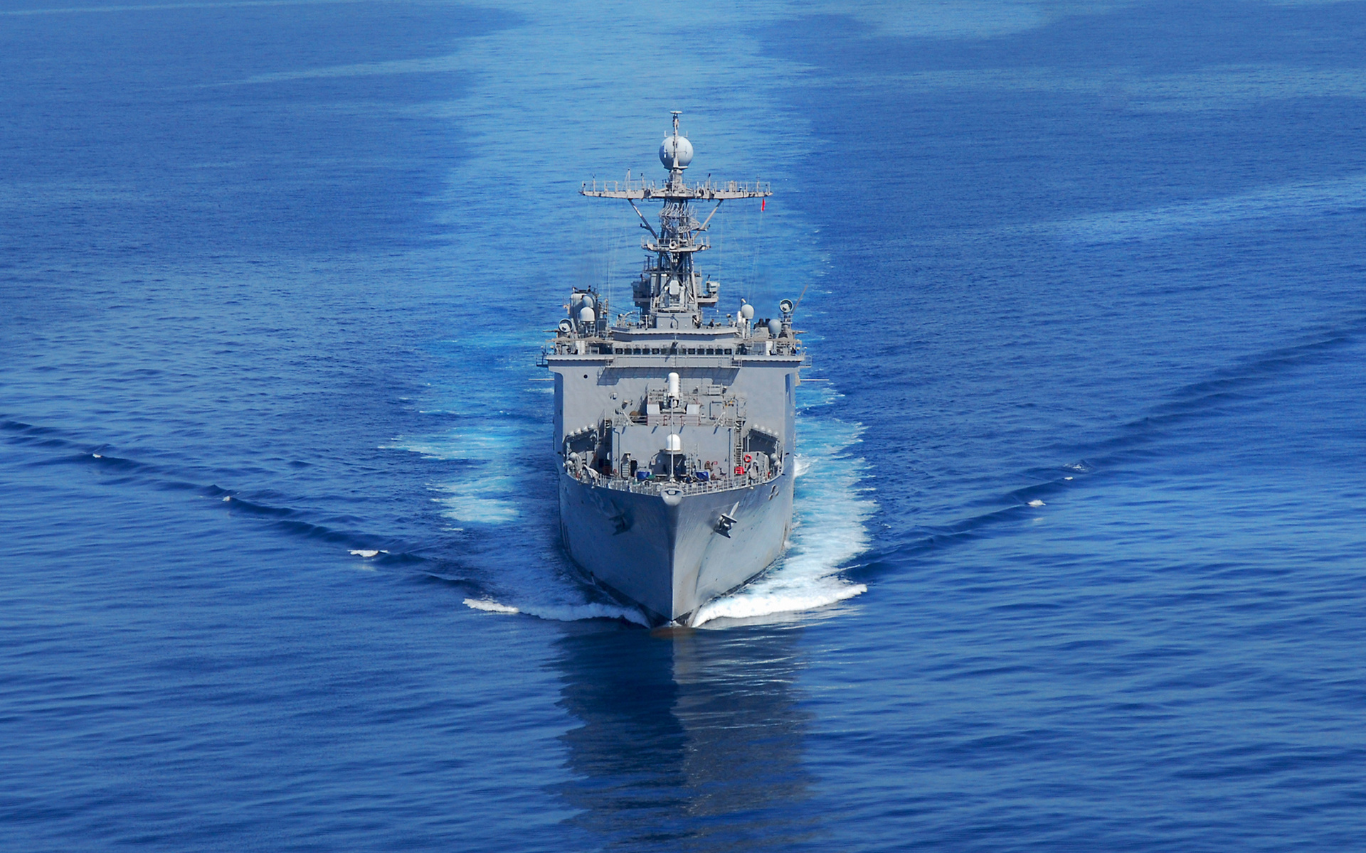 корабль, крейсер, море