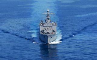 Заставки корабль,крейсер,море,океан,волны,вода,авианосец