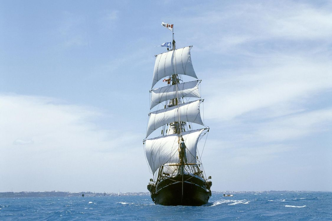 Обои корабль, парус, плыть картинки на телефон
