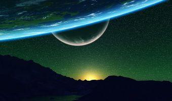 Фото бесплатно астероиды, арт, космос