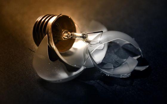 Photo free lamp, base, glass