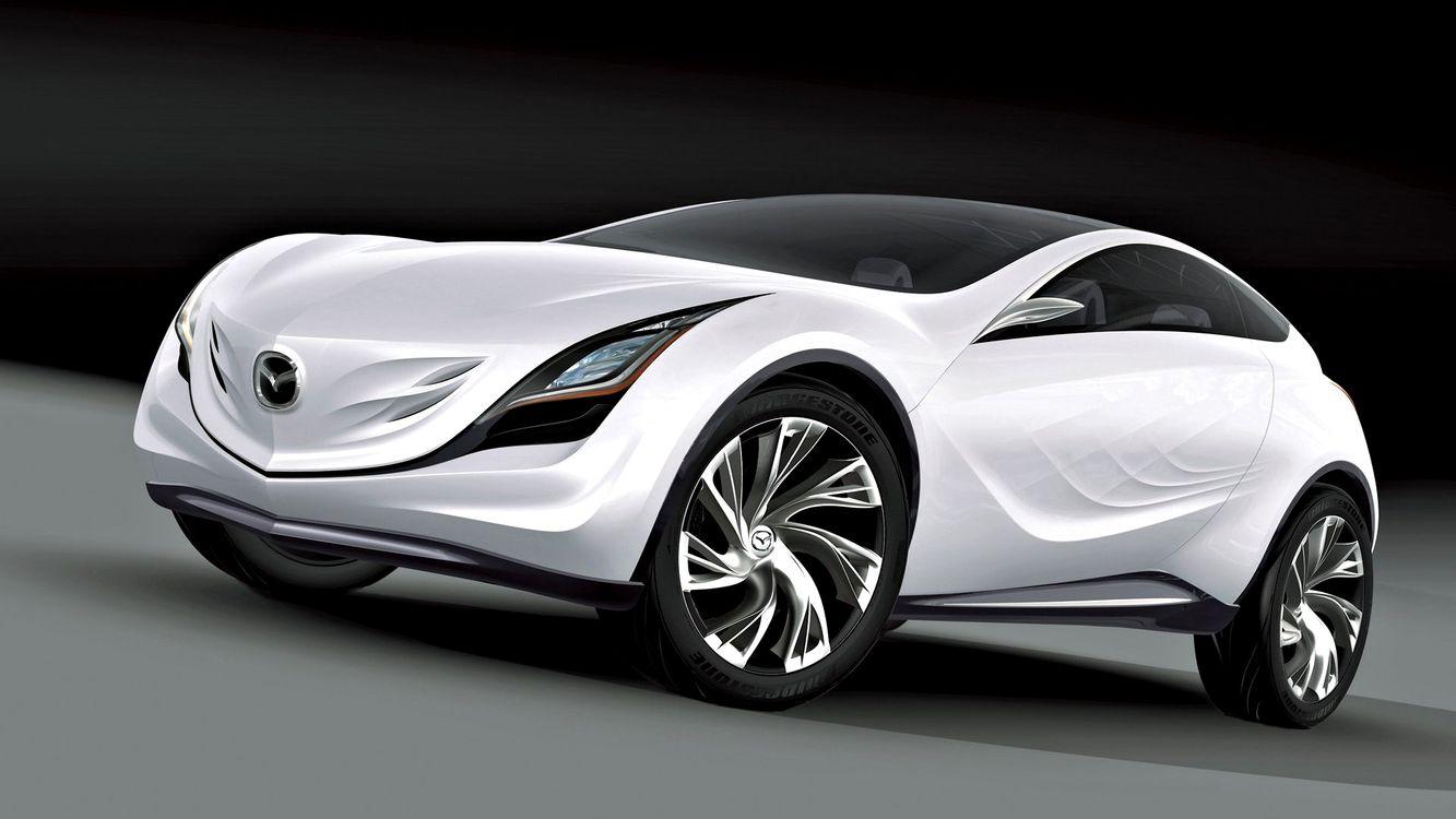 Фото бесплатно мазда, белая, концепт кар, дизайн, диски, фары, машины, машины