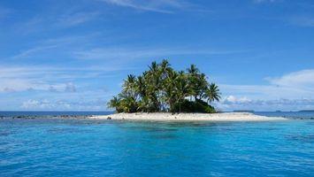 Бесплатные фото море, вода, остров, пальмы, небо, облака, природа