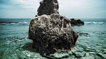 Фото бесплатно море, волны, рифы