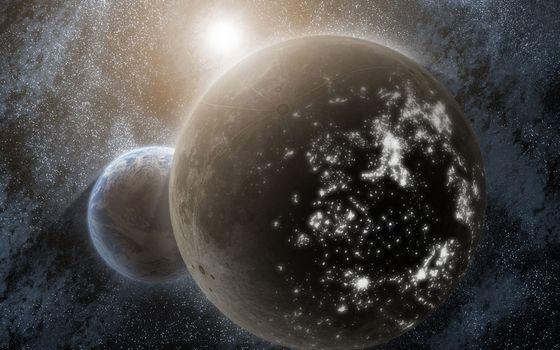 Бесплатные фото планеты,небо,звезды,солнце,ярко,необычно,космос