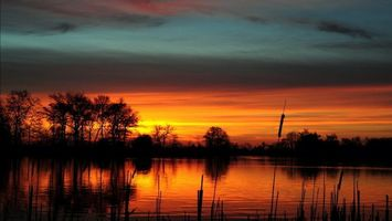 Фото бесплатно пейзажи, река, небо