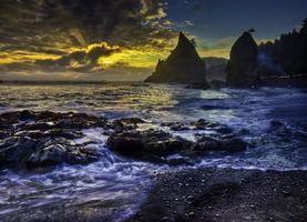 Бесплатные фото rialto beach, olympic national park, washington, pacific ocean, национальный парк олимпик, штат вашингтон, тихий океан