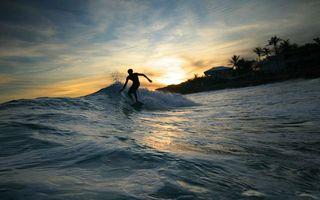 Фото бесплатно серфинг, серфингист, вода