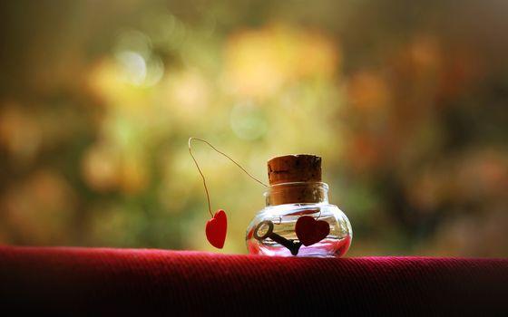 Заставки сосуд,пробка,сердца,ключ,любовь,заставка,разное