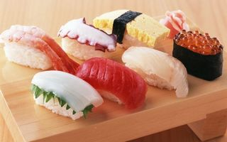 Заставки суши,икра,рис,рыба,лосось,стол,доска