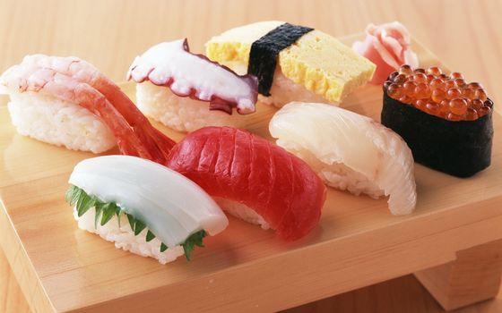 Фото бесплатно суши, икра, рис