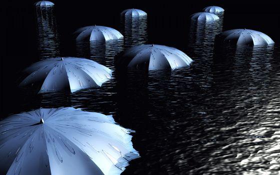 Фото бесплатно зонтики, рисунок, раскрытые