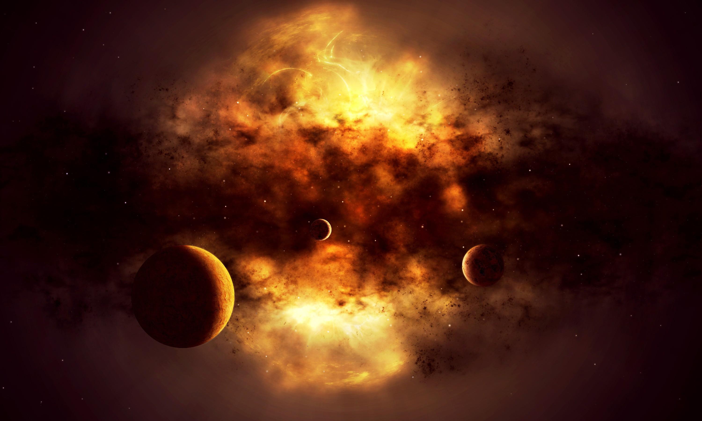 Обои Взрывающаяся планета картинки на рабочий стол на тему Космос - скачать без смс