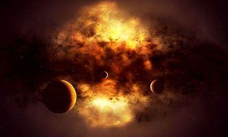 Бесплатные фото взрыв звезды,солнце,взорвалось,планеты,космос