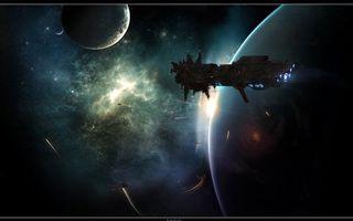 Фото бесплатно космос, космический карабль