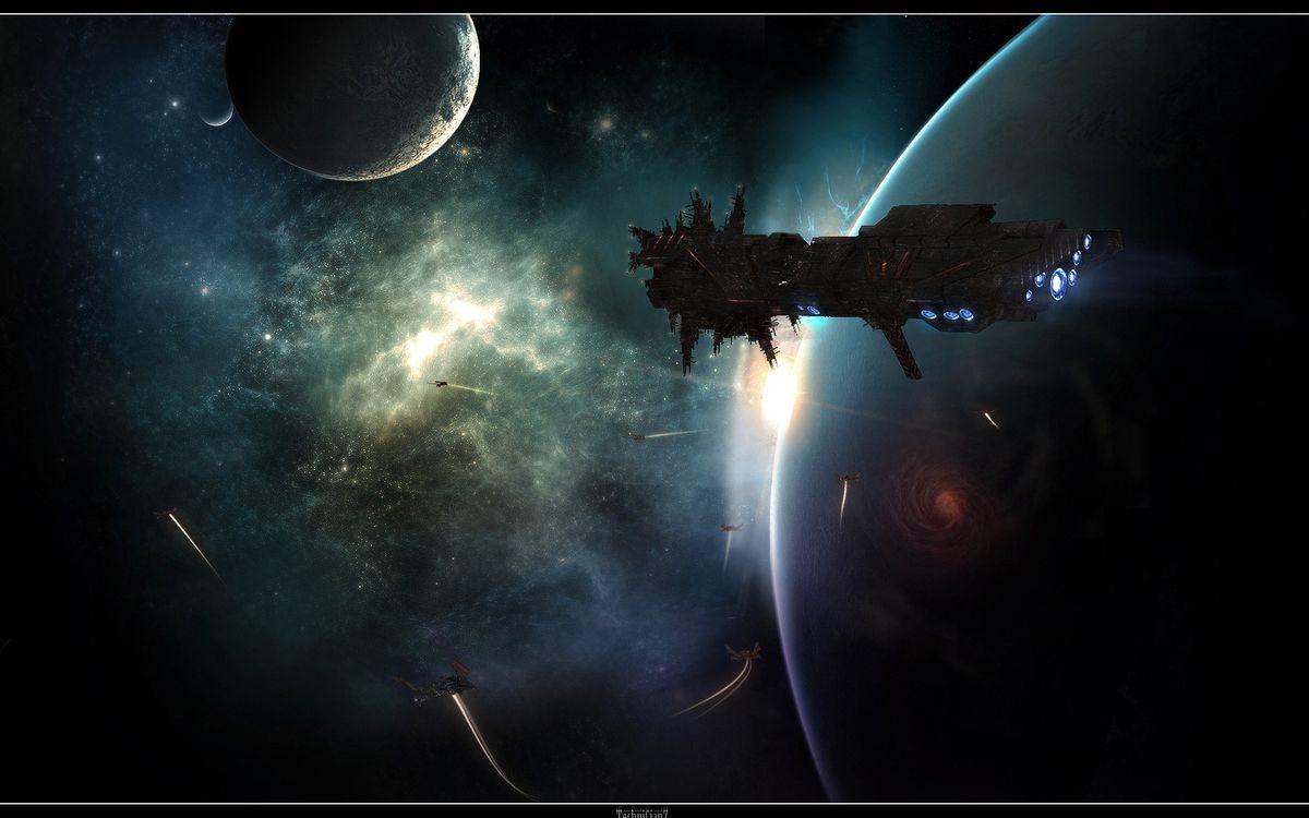 Фото бесплатно космос, космический карабль - на рабочий стол