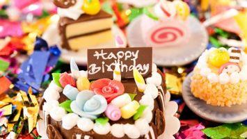 Фото бесплатно день, рождения, торт