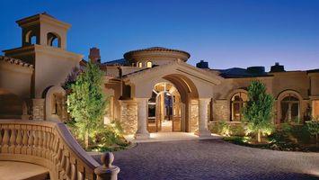 Заставки дом, архитектура, стиль, окна, свет, деревья, интерьер