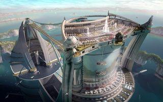 Бесплатные фото фантастика,город,будущее