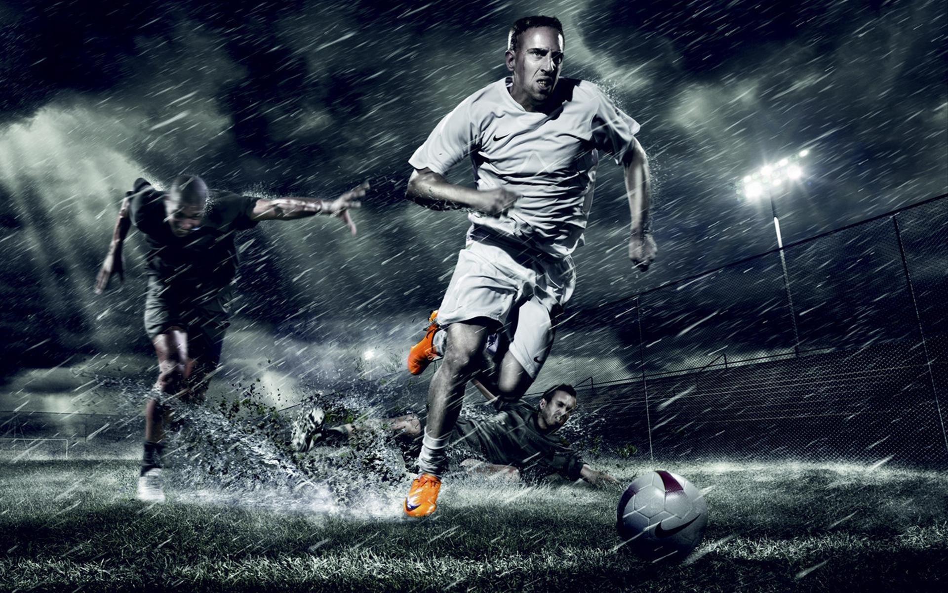 футбол, мяч, вода