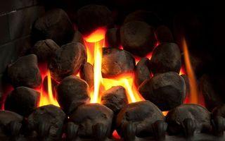Фото бесплатно камин, огонь, камни