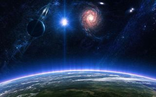Бесплатные фото космос,планеты,звезды,солнце,вселенная,невесомость,фантастика