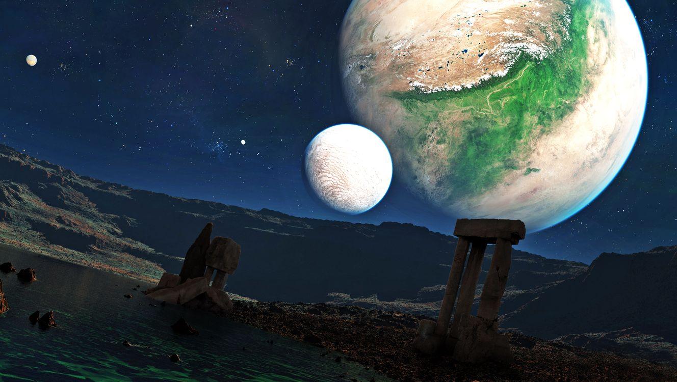 Обои космос, планеты, звёзды картинки на телефон
