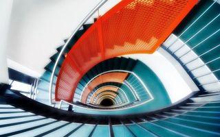 Фото бесплатно лестница, ступеньки, перила, пролеты, высота, разное