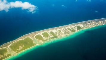 Заставки зелень, песок, остров