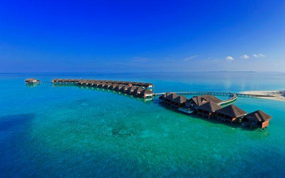 Бесплатные фото море,океан,мальдивы,острова,домики,крыши,вода,дно,горизнот,небо,рай,пейзажи