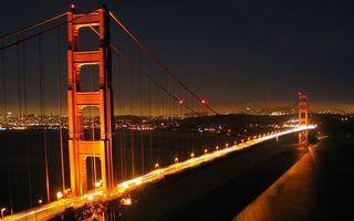 Бесплатные фото мост,вода,свет,ночь,машины,огни,город