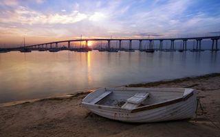 Заставки мост, эстакада, лодка