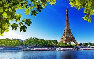 Заставки париж,эйфелева башня,река,город