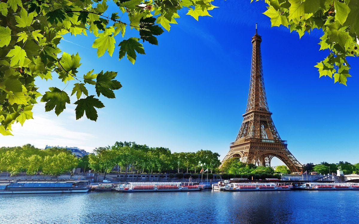 Фото бесплатно париж, эйфелева башня, река, город, город